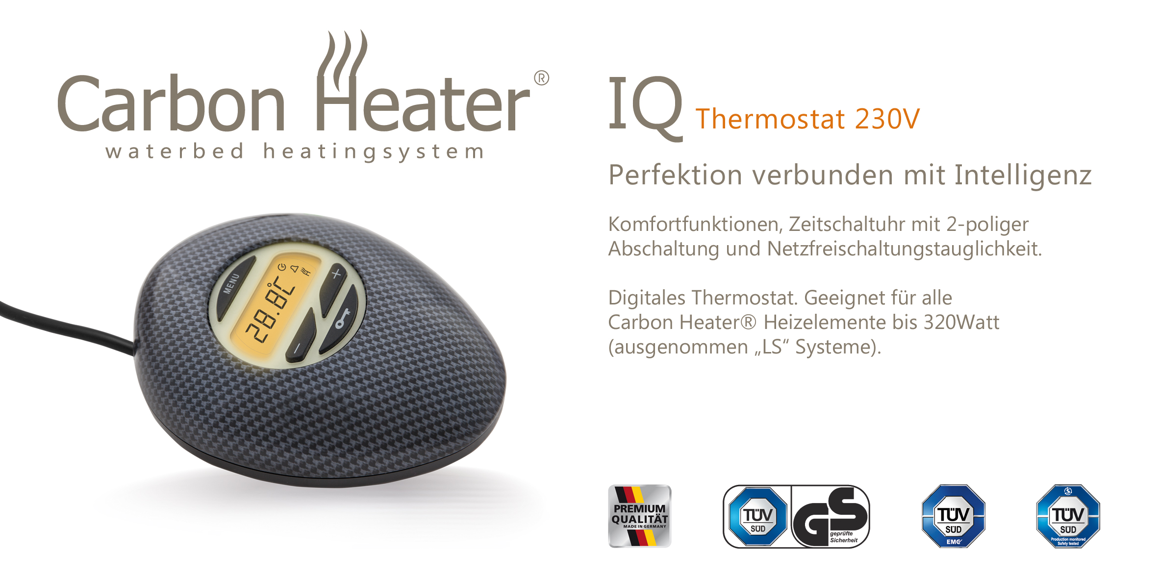 Extrem Wasserbett Heizung Regler Carbon Heater TBD IQ Digital QW48